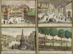 Leizel, Balthazar Frederic. Um 1750 - 1800Guckkastenblätter mit Ansichten aus Köln, B
