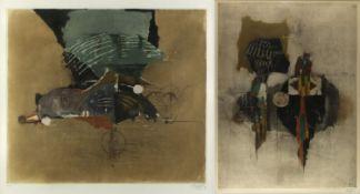 Friedlaender, Johnny. 1912 Pless - Paris 1992Fleurs. Lumière d'automne. 2 farbige Aqua