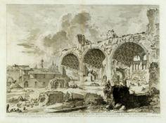 Piranesi, Giovanni-Battista. 1720 - Rom - 1778Veduta degli avanzi del tablino della Cas