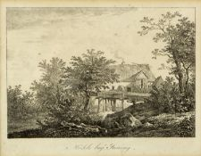 Wagenbauer, Max Joseph. 1775 Öxing - München 1829Mühle bey Inning. Lithographie. Bet