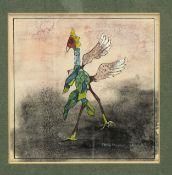 Maddox, Conroy. 1912 Ledbury - London 2005Bird Dance. Gouache. Sign. und dat. (19)40. 1