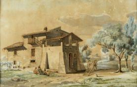 Vogel, C. Mögl. Carl Vogel von Vogelstein. 1788 - 1868 Altes Haus in einer italienischen Lan