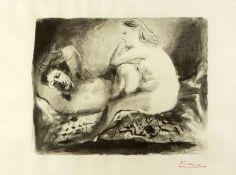 Picasso, Pablo. 1881 Malaga - Mougins 1973Le Dormeur. Heliogravur. Im Druck sign. und d