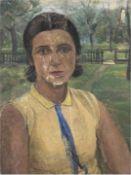 """Abeking, Elly (1876 Berlin-1945 Althagen, Ahrenshoop) zugeschrieben """"Porträt einer jungenFra"""