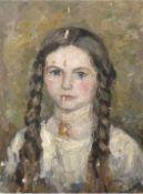 """Abeking, Elly (1876 Berlin-1945 Althagen, Ahrenshoop) zugeschrieben """"Junges Mädchen"""",verso A"""