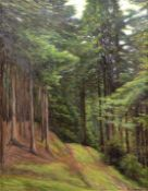 "Wineke, Rudolf (1890 Lenthe-1955 Bispingen) ""Nadelwald"", Öl/Lw., signiert u.r., (mussgerein"