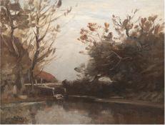 """Willroider, Ludwig (1845 Villach, Kärnten-1910 Bernried am Starnberger See) """"HerbstlichesSee"""