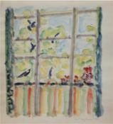 "Hauptmann, Ivo (1886 Erkner-1973 Hamburg/Dresden) ""Blick aus dem Fenster"", Aquarell,handsign."