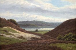 "Ejsing, Jorgen (1889-1954) ""Heidelandschaft"", Öl/Lw./Holzplatte, sign. u.r. und dat. 1924,48"