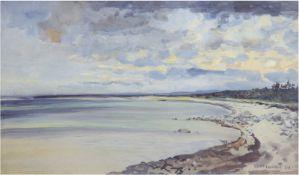 "Tschirch, Egon (1889 Rostock-1948 Rostock) ""Ostseeküste"", Aquarell, sign. und datiert 1924u."
