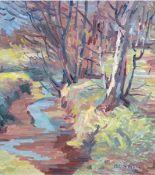 """Eggers, Richard (1905 Wilster- 1995) """"Bäume am Bachufer"""", Öl/Hf., signiert und datiert(19)67 u.r.,"""