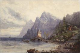 """Stanfield, George Clarkson (1828 London-1867 ebenda) """"Schiffswerft an der englischenKüste"""","""