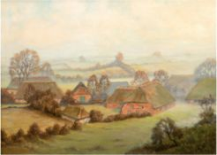 """Rohwedder, Prof. Jan (Maler des 20. Jh.) """"Blocksdorf in Holstein"""", Öl/Lw., sign. u.l., 4 Hinterlegu"""
