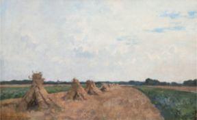 """Vreedenburgh, Cornelis (1880 Woerden/Niederlande-1946 Laren/ Niederlande) """"Erntelandschaft mit Korn"""