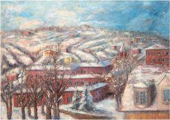 """Terechkovitch, Constantin Andréevitch (1902 Moskau-1978 Monaco) """"Winterlandschaft mit Kloster im Sc"""