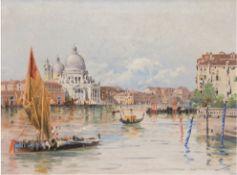 "Monogrammist ""Venedig"", Öl/Lw., monogr. ""A.M."" u.r. und dat. 1897, 44x58 cm, Rahmen"