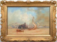 "Laeisz, Carl Martin (1803 Hamburg-18654 ebenda) ""Neapel am Meer"", Aquarell/Papier, sign. und dat. 1"
