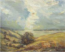 """Landschaftsmaler des frühen 20. Jh. """"Impressionistische norddeutsche Seenlandschaft"""", Öl/lw., unsig"""