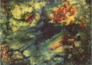 "Dittberner, Lutz (1899 Dortmund-1981 ebenda) ""Abstrakte Farbkompsition"", Lasurmalerei, sign. u. dat"