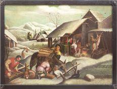 """Bassano, Jacopo da Ponte (um1510/15 Bassano-1592 Bassano) Werkstatt, 4 Gemälde: """"Die Vier Jahreszei"""