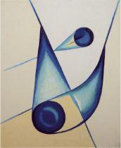 "Steneberg, Eduard Eberhard (1914 Weimar-1996 Frankfurt am Main) ""Abstrakte Komposition - Fliegen"","