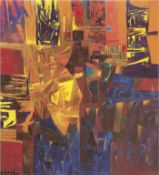 "Meirowsky, Katja (1920 Spremberg-2012 Potsdam) ""Abstrakte Landschaft"", Öl/Lw., sign. u.r., 29x40 cm"