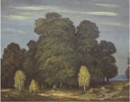 """Brandenburger Landschaft"", Öl/Mp., undeutl. sign. ""Rest. W. 48"" u.r., rücks. bez. Fritz Janowski,"