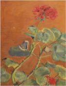 """Opferkuch-Jacoby, Margot """"Geranien"""", Öl/Lw., monogr. u.l. und dat.´02, 42x27 cm, Rahmen"""