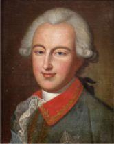 "Biedermeier-Herrenporträt ""Ludwig der IX"", Öl/Lw., unsign., 40,5x33,5 cm, Rahmen"