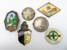 6 diverse Plaketten, u.a. ADAC, 1930/52/53 und 2 x 1954.