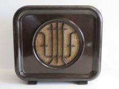 Alter Lautsprecher, Saba, DINO P, um 1940, Bakelit, gem., Originalzustand (auch Bespannung), 37 x 4