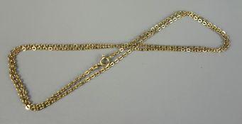 lange Ankerkette, 585er Gold, Gew.5,74g, Federringverschluss, L.60cm