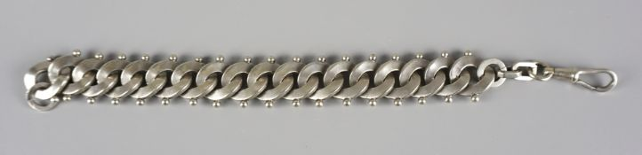 Art Deco watch chain, nickel plated, France, 1920s/1930s