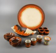Mixed pottery, 16 pieces, 1940s