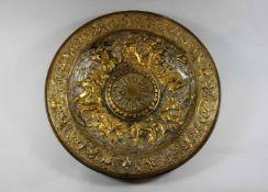 Große dekorative Teller, Historismus, um 1870-1880, London, Elkington & Co., Triumph von Neptun un