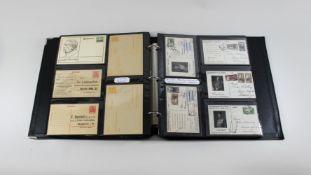 Feldpostkarten und Doppelkarten Album, um 1911, mind. 350 versch. Karten aus aller Welt.Fel