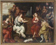 Flämische Schule, Anonymer Maler des Barock, 17. Jh., Das Konzert, Öl a. Leinwand