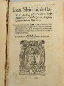 SLEIDANUS, Johannes: De statu religionis et reipublicae Carolo Quinto, Caesare commentariorum libri