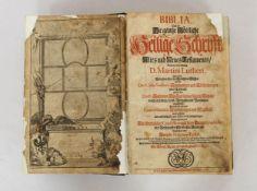 LUTHER, Martin: Biblia - Das ist: Die gantze göttliche Heilige Schrift Altes und Neues Testaments