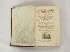 CAVE, William: Apostolische Oudheden...