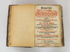 QUIRSFELD, Johann: Evangelischer Hertzens Schatz ...Siebende Auflage