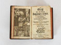 CAMUS, Johann Peter: Der Geist des Heiligen Franciscus von Sales Bischof und Fürstens zu Genf