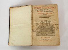 LANCELOTTI, Paolo: Corpus Iuris Canonici...
