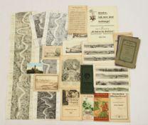 Konvolut Graphik und Zeichnungen 19. Jahrhundert Rheinlauf und -panorama