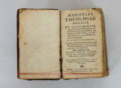 MANIGART, Johann Heinrich: Manipulus Theologiae Moralis de Sacramentis