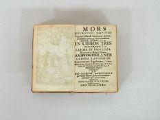 Millner, Ambrosius: Mors religioso novitio