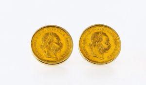 Paar Manschettenknöpfe mit Münzen