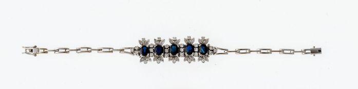Saphir-Diamant-Armband