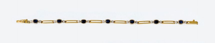 Saphir-Brillant-Armband