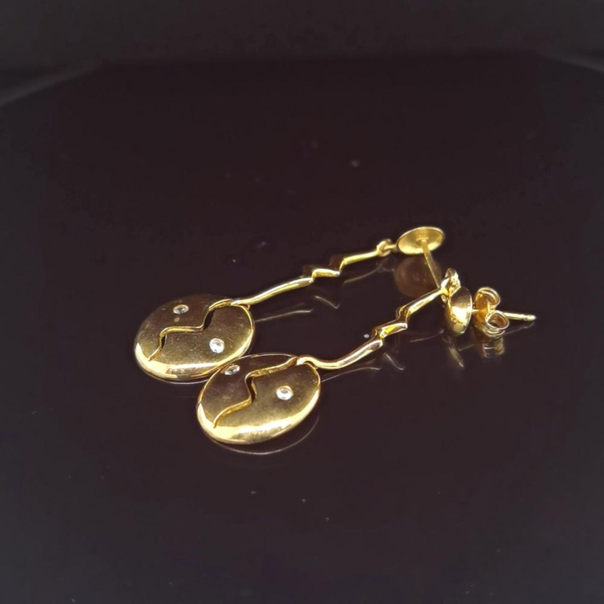 Ohrhänger, 333 Gelbgold 2,5
